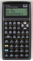 The 2007 retro HP 35s programmable calculator.