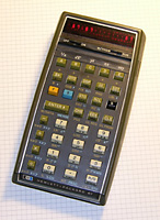 My HP-67 magnetic card programmable calculator, manufactured in 1978.