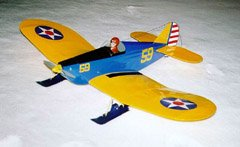 My Great Planes SlowPoke flies on 7 NiCd cells, and uses a BEC for convenience and weight reduction. Since it's always ready to go, it gets flown a lot, even in winter as seen here.