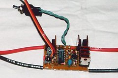 This home-made ESC (construction was featured in the July '99 issue of S&E Modeler) is BEC equipped, with a user-adjustable motor cut-off point. The ESC will work with 6 to 10 NiCd/NiMH cells when using the BEC, and up to 12 cells without the BEC.