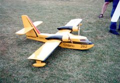 Large models such as Robert Pike's twin Astro 05G powered Canadair CL-215 water bomber typically do not use a BEC. Receiver pack weight is less of an issue, and it's hard to build a BEC that will work with high cell counts.