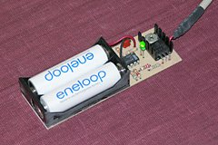Eneloop cells can be charged in any standard Nickel Metal Hydride (NiMH) charger, including this do-it-yourself USB-powered one.