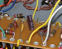 Capacitor C30 is located near the opposite end of the amplifier.