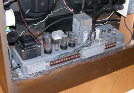 The AO-29 amplifier reinstalled and reconnected.