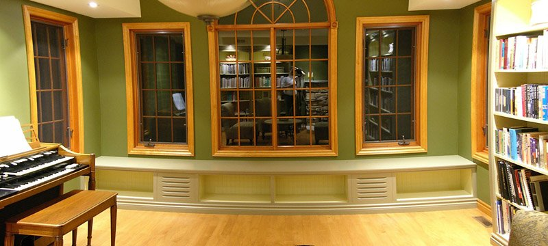 Completed Window Seat Bookcase With Integrated Tone Cabinets, Awaiting  Books. You Can Get A