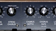 Selectable string chorus mode, and the original depth and rate controls.