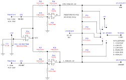 This circuit takes the output of the two 566-based chorus LFOs, and shifts them to swing between 0V and 8V. Also shown here is the wave folder modulation selector.