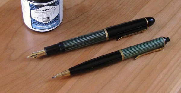The Pelikan 140 and a matching Pelikan 350 mechanical pencil with 1.2mm leads.