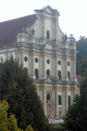 This is the church attached to the monastery, as seen from the conference area.