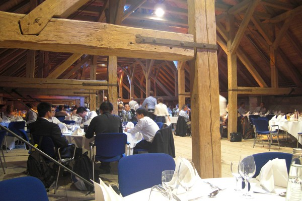 The conference dinner was held in the loft of one of the venue's buildings. It felt like an old barn, but without the cobwebs.