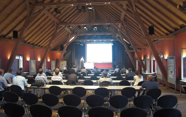 The Maplesoft vendor session for MapleSim, given in the Kleiner Saal (small hall).