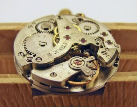 The fully reassembled movement, ready to have the dial and hands mounted.