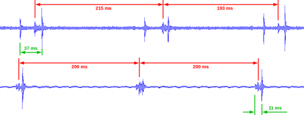 Part of an audio recording of the watch as received, and after overhaul and regulation.