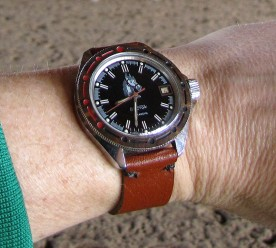 The Generalskie after replacing the dial with a cavalry one, and making a rustic strap.
