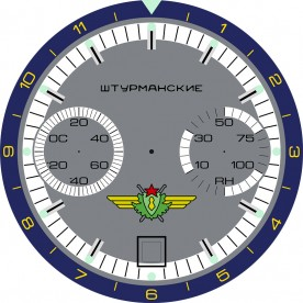 Completed artwork for the clock dial, reproduced here at one quarter resolution.