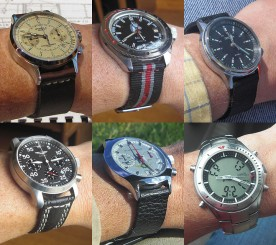 My watch collection as of September 2013.