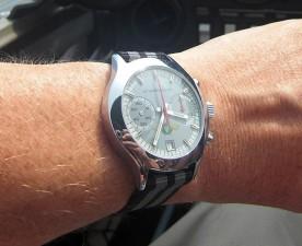 Sturmanskie chronograph on black and grey.