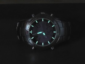The lume is very bright, and remains visible all night.