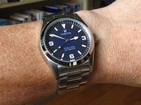 """Vortix """"Evolution"""", a customized watch with a home-made dial."""
