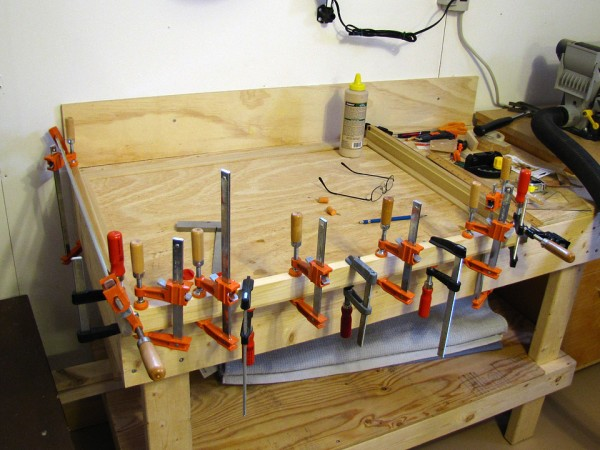 One can never have too many clamps.