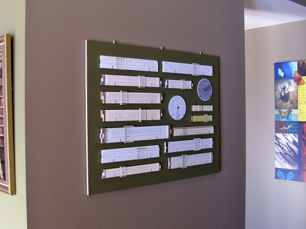 Slide rules back in place, ready for the frame.