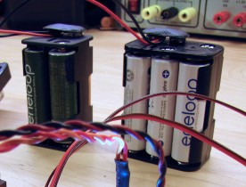 The 12V battery is split into 4 and 6 cell packs for more flexibility in placement.