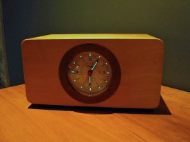 The Vortix Wake-O-Matic, a retro styled analog musical sunrise alarm clock.