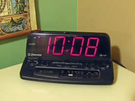 The large glowing digits of my old alarm clock were disturbing my sleep.