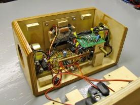Front case assembly, shown here upside down.