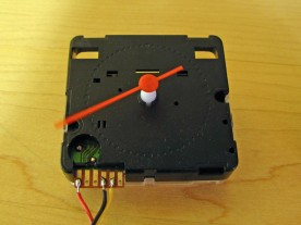 Smooth sweeping Chinese quartz alarm clock movement.