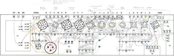 The completed wiring diagram, drawn full size.