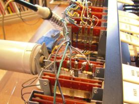 Most of the resistors on the switches were readily accessible.