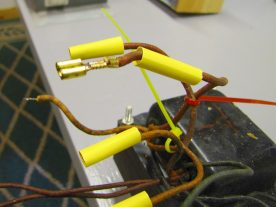 The transformer secondary leads were terminated with heat shrink insulated female spade connectors.