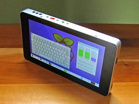 A homemade compact Raspberry Pi based tablet.
