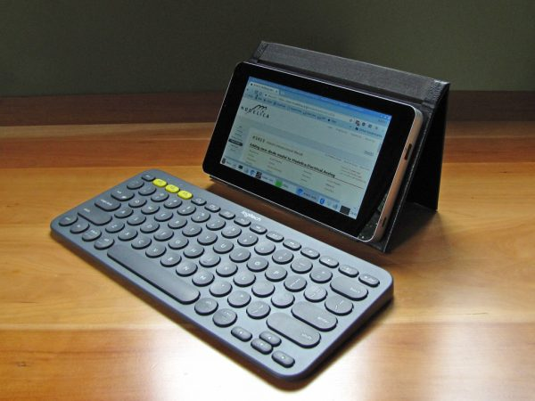 With a compact Bluetooth keyboard, the tablet makes a viable laptop replacement for travel.