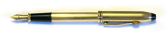 Cross Townsend in 10K Rolled Gold with a 14K Gold Medium Nib, from about 1995.
