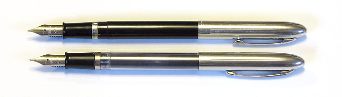 Two Sheaffer Cartridge pens with Fine Stainless Steel Nibs, from 1954-1963.