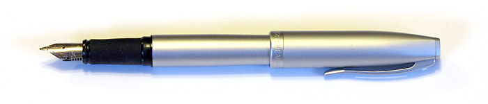 Sheaffer Javelin with a Stainless Steel Italic Nib (Originally Medium), from 2006.