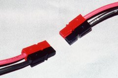 A set of Sermos connector pairs, lined up for connection.