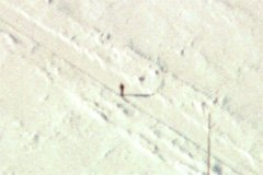 A typical winter flying landscape (the dot near the center is your author). The wind can be really cold when standing in an open field, so dress warmly.