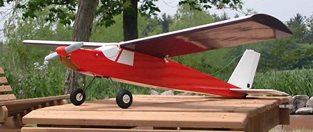 The dark-colored wing underside makes it easy to tell from a distance which way is up, even when the model is inverted.