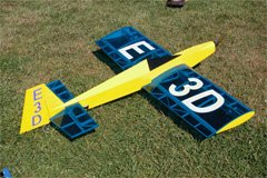 A Gary Wright Model Products E3D. This one, belonging to Marc Thompson, is powered by a brushless motor.