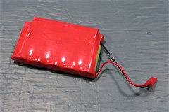 My home-made 7x750 NiMH battery used a stock park-flyer power lead, again with 22 gauge wire.