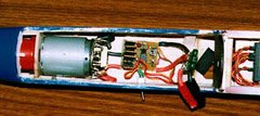 Completed ESC installed in my Great Planes Spectra.