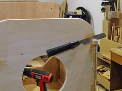 I used a flush-cutting saw to trim the overhang past the front of the firewall.