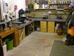 Our basement mudroom was pressed into service as a building area.
